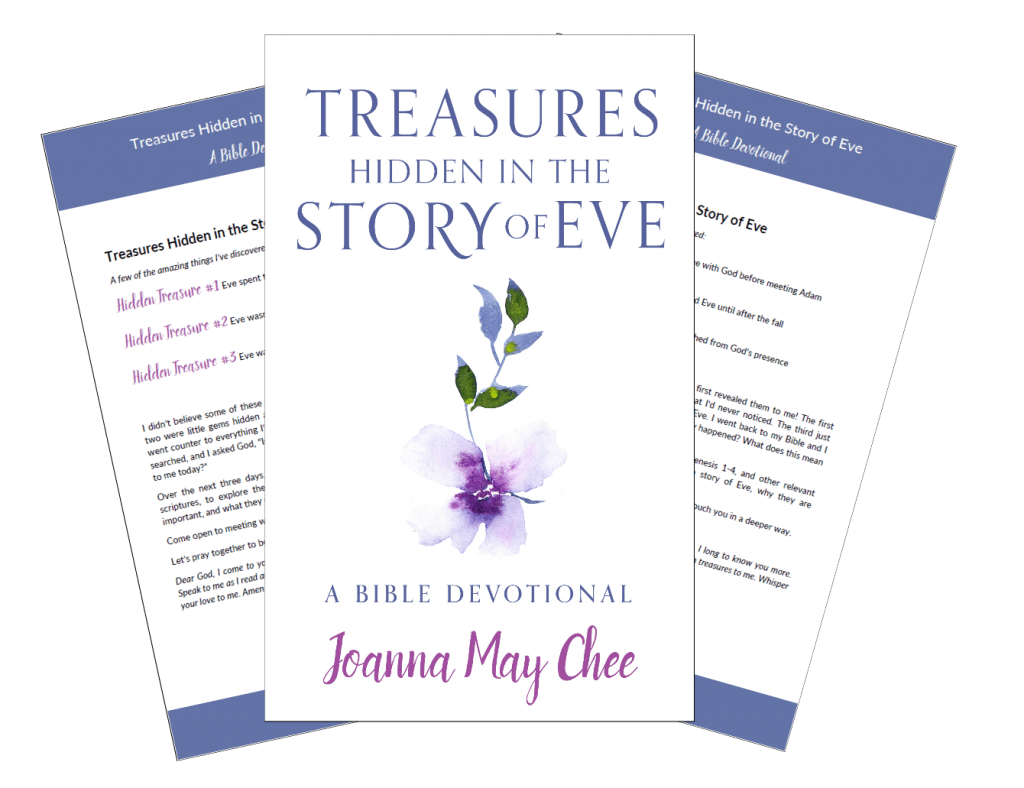 I thought I knew the Bible story of Eve. Then God surprised me! There are treasures hidden in Eve's story I'd never seen before. Explore the story of Eve anew, and discover just how loved you are, in this FREE 3-day devotional.